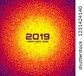 new year 2019 card background.... | Shutterstock .eps vector #1231424140