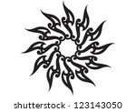 decorative wallpaper pattern... | Shutterstock .eps vector #123143050