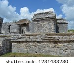 ancient ruin buildings at tulum ... | Shutterstock . vector #1231433230