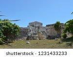 ancient ruin buildings at tulum ... | Shutterstock . vector #1231433233
