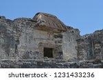 ancient ruin buildings at tulum ... | Shutterstock . vector #1231433236