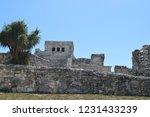 ancient ruin buildings at tulum ... | Shutterstock . vector #1231433239