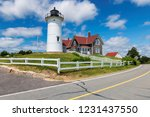 cape cod lighthouse. drive near ... | Shutterstock . vector #1231437550