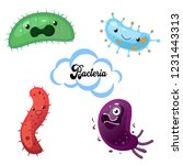 bacteria colorful set  micro... | Shutterstock .eps vector #1231443313