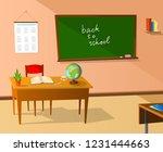 school classroom illustration | Shutterstock . vector #1231444663
