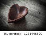 closeup.wooden salad bowl in... | Shutterstock . vector #1231446520