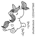 vector cute unicorn and... | Shutterstock .eps vector #1231447360
