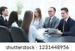 business team at a meeting in... | Shutterstock . vector #1231448956