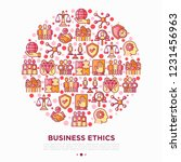 business ethics concept in... | Shutterstock .eps vector #1231456963