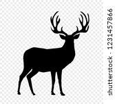 black silhouette of reindeer...   Shutterstock .eps vector #1231457866
