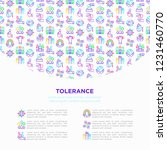 tolerance concept with thin... | Shutterstock .eps vector #1231460770