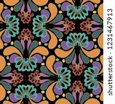 colorful abstract paisley... | Shutterstock .eps vector #1231467913