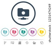 trusted ftp flat color icons in ... | Shutterstock .eps vector #1231474249