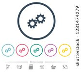 collaboration flat color icons... | Shutterstock .eps vector #1231474279