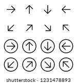 thin line black arrow icons... | Shutterstock .eps vector #1231478893