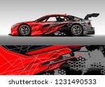 racing car wrap design vector.... | Shutterstock .eps vector #1231490533