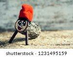 a handmade tio de nadal  a... | Shutterstock . vector #1231495159