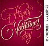 happy valentine's day hand... | Shutterstock .eps vector #123150439