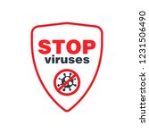 stop viruses symbol. protection ... | Shutterstock .eps vector #1231506490
