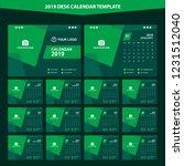 2019 desk calendar template... | Shutterstock .eps vector #1231512040