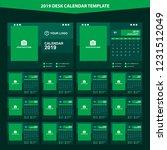 2019 desk calendar template... | Shutterstock .eps vector #1231512049