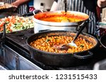indian street food chick pea...   Shutterstock . vector #1231515433