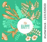 dark card with floral elements. ...   Shutterstock .eps vector #1231520020
