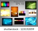 set abstract vector backgrounds | Shutterstock .eps vector #123152059
