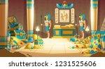 egypt pharaoh tomb or treasury... | Shutterstock .eps vector #1231525606