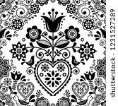 seamless folk art vector... | Shutterstock .eps vector #1231527289