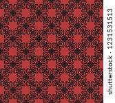 seamless decorative vector... | Shutterstock .eps vector #1231531513