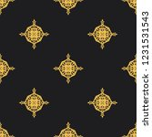 seamless decorative vector... | Shutterstock .eps vector #1231531543