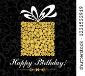 happy birthday card.... | Shutterstock .eps vector #1231533919