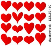 red hearts set for wedding and... | Shutterstock .eps vector #123153460