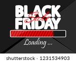 black friday sale  progress... | Shutterstock .eps vector #1231534903