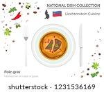 liechtenstein cuisine. european ... | Shutterstock .eps vector #1231536169