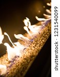 fire burning in a brazier on... | Shutterstock . vector #1231540099