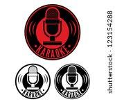 karaoke microphone symbol | Shutterstock .eps vector #123154288