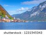 hallstatt  austria   famous... | Shutterstock . vector #1231545343