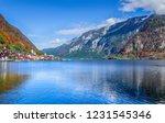 hallstatt  austria   famous... | Shutterstock . vector #1231545346