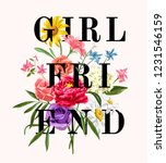 girl friend slogan with... | Shutterstock .eps vector #1231546159