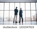two businessmen deep in... | Shutterstock . vector #1231547023