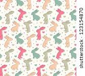 rabbit seamless pattern | Shutterstock .eps vector #123154870