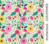Cute Retro Seamless Pattern...