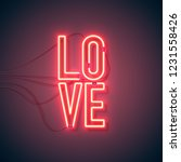 neon sign. retro neon love sign ...