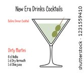 dirty martini alcoholic... | Shutterstock .eps vector #1231559410
