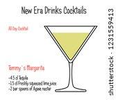 tommys margarita alcoholic... | Shutterstock .eps vector #1231559413