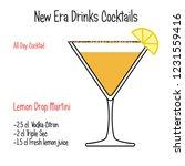 lemon drop martini alcoholic... | Shutterstock .eps vector #1231559416
