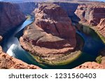horseshoe bend near the town of ... | Shutterstock . vector #1231560403