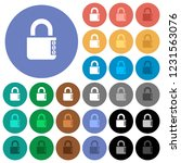 locked combination lock with...   Shutterstock .eps vector #1231563076